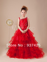 Reference Images Baby Ball Gown organza one-shoulder beads sequins corset ball gown beautiful girls pageant dresses floor length little girls dresses customize