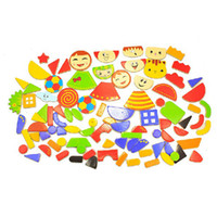 Wholesale 95 pieces of patch Magnetic puzzle for game children toy without drawing board