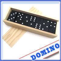 Wholesale 28pcs set Game Play Set Domino adult boy baby intelligence Count toy wooden toys