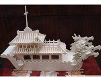 Juguetes educativos del barco del dragón Modelo de madera DIY 3D Puzzle