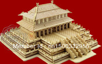 Wholesale D wooden model Forbidden City Hall of Harmony DIY wooden model D puzzles wooden toy educational toys