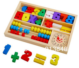 Wholesale Digital learning box multifunctional calculation frame child puzzle wooden toy Learning amp Educational Toys