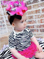 Summer girls rompers - Hot Sale girls rompers short sleeve layer lace zebra girls rompers short sleeve layer lace zebra