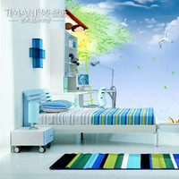 Wholesale Mural tv background wall bedroom wallpaper child real wallpaper flying wings