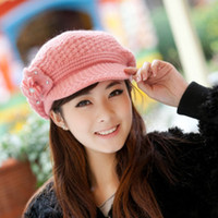 Wholesale ladies Knitted cap Fashion Hot Korean Style Women Knitted Cap Crochet Autumn Winter Warm New Knitting Hat