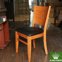 Wholesale Solid wood chair texas poker chair brief fashion soft cushion style