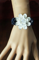 Wholesale Ceramic lotus retro bracelet