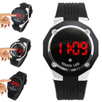 Men's auto boys - S5Q LED Touch Screen Digital Date Military Men Boys Sports Wrist Watch AAABNQ