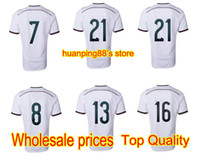 Wholesale Team Customized Thailand Quality Germany World Cup Home Shirt Soccer Jerseys Football Jersey Tops Soccer Shirts Sports J