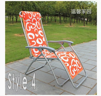 Wholesale Beautiful flower letter recliner Metal Folding chair office bed room Living Room furniture high quality