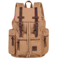 Wholesale S5Q Vintage Backpack Rucksack School Bag Satchel Hiking Bag Traveling Backpack AAABYB