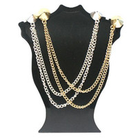 Wholesale S5Q Spike Stud Rivet Shirt Collar Neck Tip Brooch Pin Chain Tassels Rock Goth AAABAY