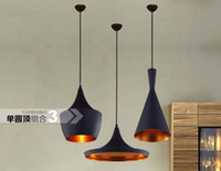 110V incandescent light bulb - New Arrival Indoor Light Tom Dixon Copper Design Shade Pendant Lamp E27 Bulbs Beat Light Ceiling Lamp Black White Home Decoration Set