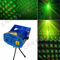 Wholesale hot Fashion V MW Mini Green amp Red Disco DJ Xmas Paty Stage Light Lighting Partterns Projector Tripod