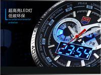 Wholesale New Trendy Men s Sport Watch Fashion LED Analog Dive Watch for Men Dual Movements Waterproof