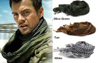 Wholesale Tactical Military Windproof Shemagh Desert ARAB Scarves Hijabs Scarf Cotton