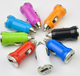 Mini Universal USB Interfac Car Charger Adapter For iPhone5 Note3 S4 Cell Mobile Phones Chargers Adapters Free DHL UPS FEDEX Shipping