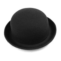 Wholesale S5Q Vintage Style New Women s Men s Roll Brim Bowler Derby Hats Colors AAABDJ