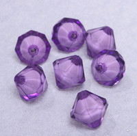 Wholesale Chunky mm Purple Acrylic Bicone Beads In Beads