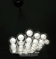 Wholesale Modern lights Glass Blub Ceiling Pendant Chandelier Lamp Living Room Lamp Minimalist Restaurant Lamp Chandelier Fashion Bedroom Light