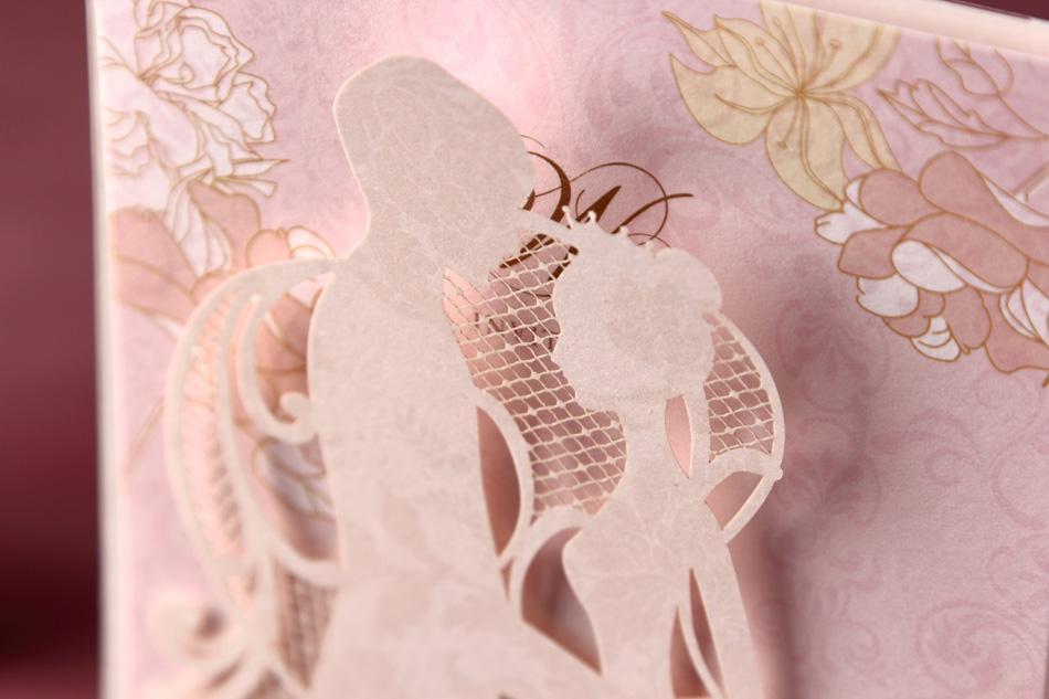 Cw2029 New Desigh Pink Invitation Card Wedding Invitations ...