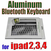 Wholesale 2013 New Keyboard Best Price Wireless Bluetooth Keyboard for iPad Slim Aluminum with retail box Good Quality seven eleven