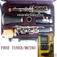 Wholesale black clarinet Bb nice ebonite PT technic tone free M T