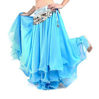 Wholesale S5Q Fancy Dancing Costume Three Layers Chiffon Belly Dance Skirt Dress Dancewear AAAAMZ