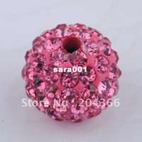 red clay - Shambhala beads JB020 Hot Sale Jewelry Components Rose Red Clay Crystal beads for DIY bracelet or other size mm