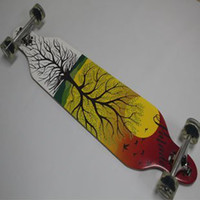 Wholesale quot Sector drop through Cruiser pumping slid custom canadian maple complete longboard skateboard