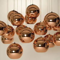 best hotel bedrooms - Tom Dixon Copper Fashion Glass Ball Dixon Bubble Best Ceiling Lighting Pendant Lamps E27 V V DHL Free Gold Copper Silver Multi Size