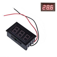 Wholesale Piece New Mini Digital V Voltmeter Red LED Vehicles Motor Voltage Panel Meter