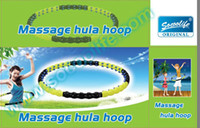 Wholesale plastic Magnetic Double Directions Hula hoop Volcanic magnets Detachable Massage Hula Hoop