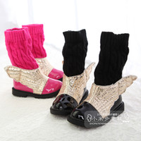 Wholesale winter girl brand fashion angel wings warm snow boots baby boots black red yellow China size to