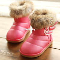 Wholesale winter girl angel wings flat heel snow boots Martin boots pink white peach red iron rust red size