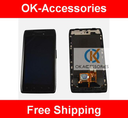 Wholesale LCD Digtizer Touch Screen Assembly With Frame For Motorola Droid Razr XT912 XT910 PC
