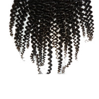 Cheap Brazilian Hair lace closure Best Natural Color Curly hair closure