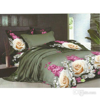 Wholesale Reactive Dyeing Plain Weaven Cotton Bedding Set D Floral Pattern Bedding Supplies