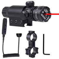 Wholesale Tactical Hunting Wargame Adjustable Red Laser Dot Scope Sight for Pistol w Riflescope Mounts