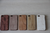Wholesale DHL Natural Bamboo Wood handmade Hand Carved Wooden Case Cover for iPhone S iphone S Samsung S3 S430pcs