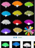Wholesale Fluffy Turkey Feather Fan Showgirl Burlesque Flamenco Flapper Fancy Dress Ball Event Party Christmas new year performing props