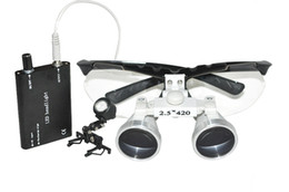Wholesale 2 X mm Dental Surgical Medical Binocular Loupes LED Head Light Lamp brand new RDL
