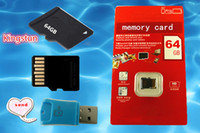 Memory Card   Wholesale - Sell 64GB Class 10 Micro SD TF Memory Card with Adapter Retail Package Flash SD SDHC Cards Free DHL0662B
