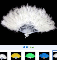 Wholesale Fluffy Turkey Feather Fan Showgirl Burlesque Flamenco Flapper Fancy Dress up Ball Event Party Christmas Halloween Graduation perform props