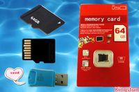Продают 64GB Class 10 SD карты памяти TF Micro с адаптером розничного пакета флэш-памяти SD SDHC карты Бесплатная DHL0668B