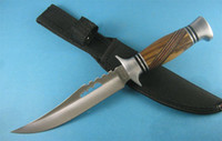 Wholesale No Brand Wood Handle Fixed Blade Survival Bowie Hunting Knife H132