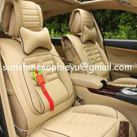 Wholesale 2013 New design Four seasons Car seat cover set PVC Leather car seat covers for universal cars