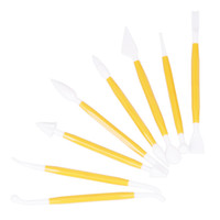 Wholesale Cake Carve Model Yellow Plastic DIY Knife Tools Kinds Set ZFD