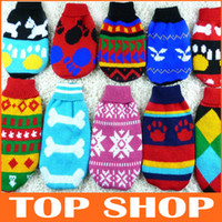 Wholesale Dog Apparel Pet Sweater Dog Clothes Spring Bottoming Loading Dog Sweaters Cats Clothes JJ0008