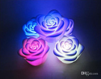 Wholesale Rose Night Lights Rainbow Fade Wedding Supplies By DHL EMS Fedex Toy Supplies China CW04